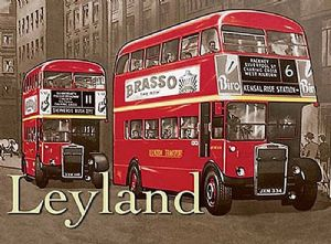 Leyland Bus small metal sign   (og 2015)